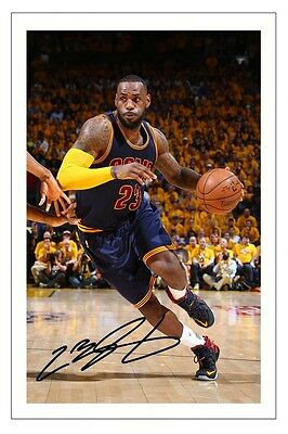 Lebron James Cleveland Cavaliers Autograph Signed Photo Print Basketball