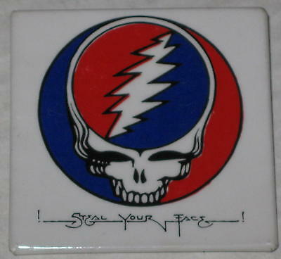 """Grateful Dead Steal Your Face Pin 2"""" x 2"""""""