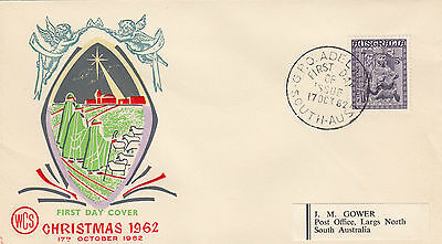 SCARCE Wesley WCS FDC overprinted by Overseas Mailer in USA 1962 Christmas