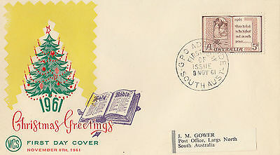 SCARCE Wesley WCS FDC overprinted by Overseas Mailer in USA 1961 Christmas