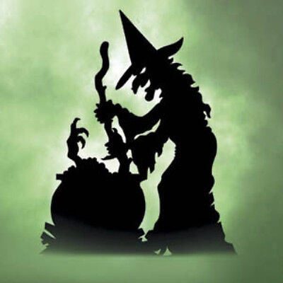 """NEW Halloween Lawn Art Yard Shadow/Silhouette - """"Trouble's Brewin' """" Witch 60""""H"""
