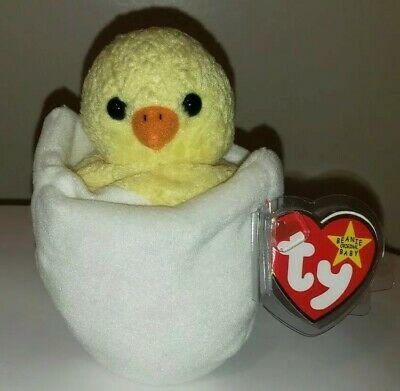 Ty Beanie Baby ~ EGGBERT the Egg in Chick ~ MINT with MINT TAGS ~ RETIRED