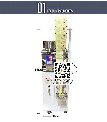 2-50g powder filling and sealing machine for tea,food,seeds,fruit with panel