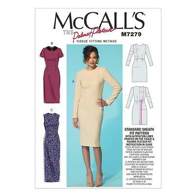 McCALL'S SEWING PATTERN MISSES' DRESSES & OPTIONAL COLLAR SIZES 8 - 22 M7279