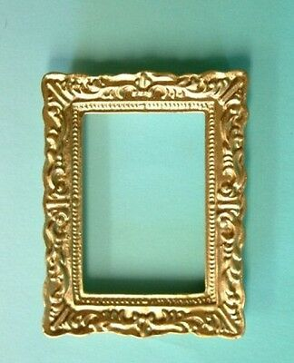 Dolls House Miniature 1:12 Accessory Empty Gold Resin Picture Painting Frame