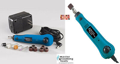PRO Grooming CORDLESS RECHARGABLE DOG CAT BIRD NAIL Claw Trimmer GRINDER SET KIT