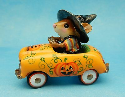 Wee Forest Folk PEDAL PUSHER, M-270s1, Halloween LTD, Retired Witch Mouse