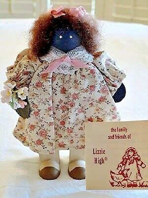 Lizzie High 1989 Little Ones Wood DOLL African American Girl 2nd Edition #1130E