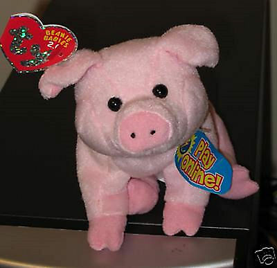 Ty Beanie Baby BB 2.0 ~ SNIFFS the Pig ~ MINT with MINT TAGS ~Stuffed Animal Toy