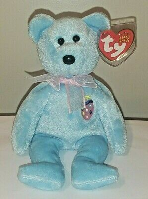 Ty Beanie Baby ~ EGGS II (2) the Easter Bear ~ MINT with MINT TAGS ~ RETIRED
