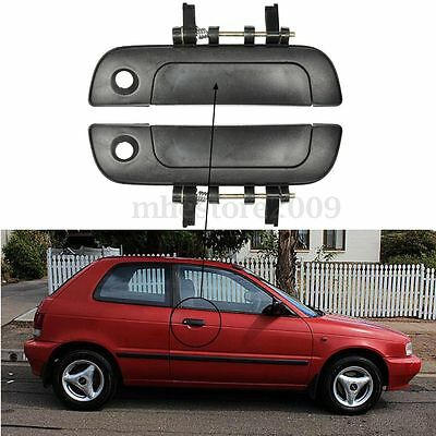 Pair Outside Exterior Door Handle Front Right & Left For 95-01 Suzuki Baleno L/R