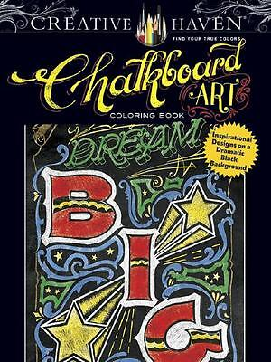Adult Coloring Book Chalkboard Art Removeable Pages For Framing