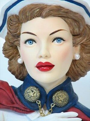 "Cameo Girls Head Vase Agibail 1942  ""WWII Nurse "" MIB  FREE SHIPPING"
