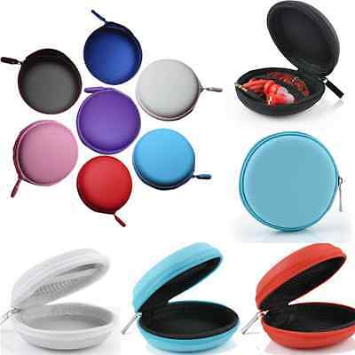 ONE Portable Mini Round Hard Storage Case Bag for Earphone Headphone SD TF Cards