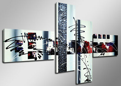 Pictures XXL art 6513 Canvas picture framed 4 pts Brand Visario 63x27''TOP