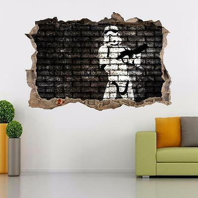 STORMTROOPER Star Wars Smashed Wall Decal Removable Wall Sticker Art Mural H213
