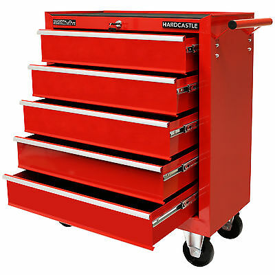 Red Metal 5 Drawer Lockable Tool Chest Storage Box Roller Cabinet/rolling Cab