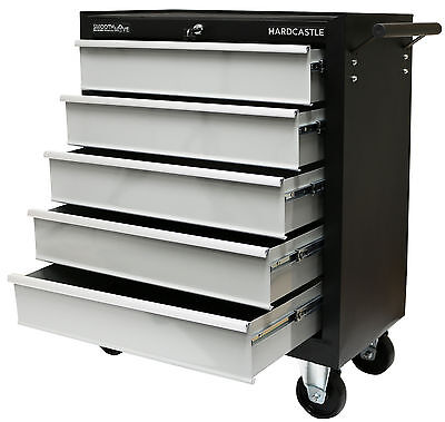 Black Metal 5 Drawer Lockable Tool Chest Storage Box Roller Cabinet/rollcab Cab