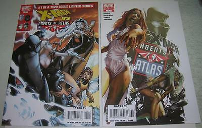 X-MEN VS AGENTS OF ATLAS #1 RAMOS & ZOMBIE VARIANT COVERS (Marvel 2009) (VF-)