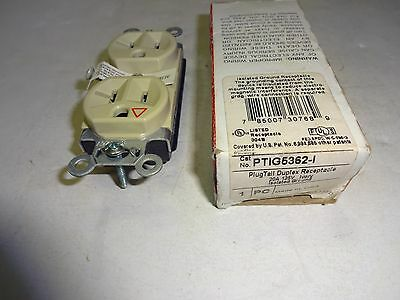 P&S Ptig5362-I Plugtail Duplex Receptacle 20A 125V Ivory Isolated Ground