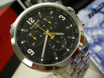 TISSOT PRC 200 Black Chronograph Stainless Steel Watch! T055.417.11.057.00