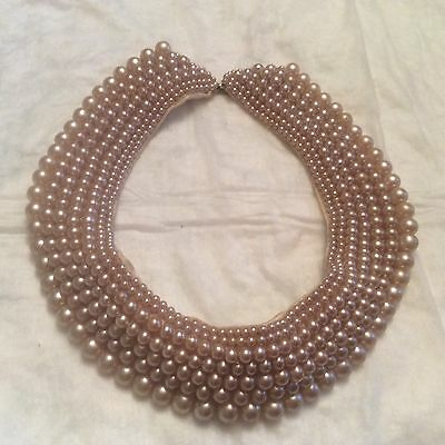 Vintage 1950's Faux Pearl Bead Collar - made in Japan? So Pretty!'