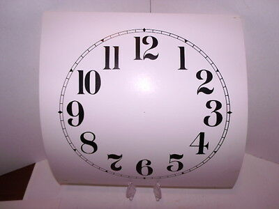 "9"" Replacement ""Arabic"" Card Paper Dial,WHITE, Flat Finish"