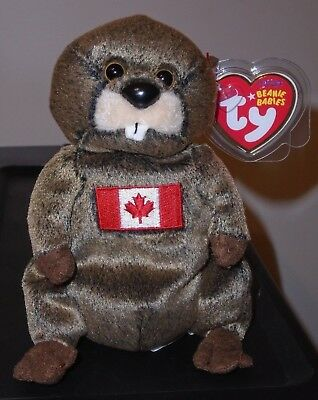 Ty Beanie Baby ~ TIMBERS the Beaver ~ Canadian Exclusive ~ MINT with MINT TAGS