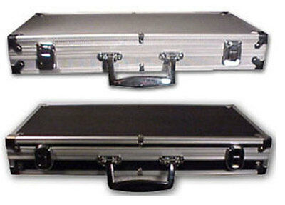 500 Count NEW Aluminum CHIPS Carrying / Storage CASE Sturdy Holds Poker Chips*