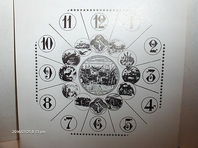 "6 1/2"" Square "" Historical Theme Card Paper Dial, WHITE, LOW GLOSS Finish"