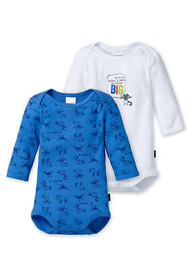 Schiesser Body bebé Set Niños con motivo Pack doble Manga larga Blanco/
