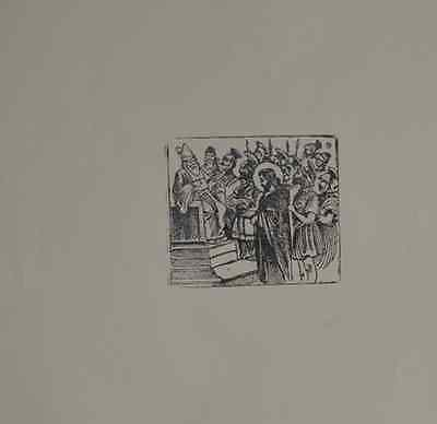 Jose Guadalupe Posada Engraving  print from original plaque passion of Christ
