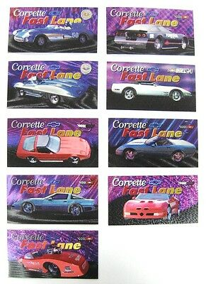 Corvette Heritage Collection - 9 Card Corvette Fast Lane Subset - New 1996