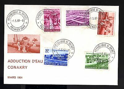 7994-REPUBLIQUE GUINEE-FIRST DAY COVER GUINEA.1964..AFRICA.FDC.French colonies