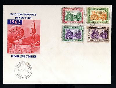 7997-REPUBLIQUE GUINEE-FIRST DAY COVER GUINEA.1965.AFRICA.FDC.French colonies.