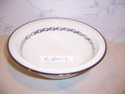 NEW Noritake WESTOVER PLATINUM Round Vegetable Salad Serving Bowl BLACK & WHITE