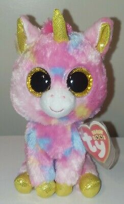 """Ty Beanie Boos ~ FANTASIA the 6"""" Unicorn ~ NEW Plush Toy ~ MINT with MINT TAGS"""