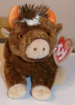 Ty Beanie Baby ~ JERSEY the Cow (January 2004 BBOM) ~ MINT with MINT TAGS