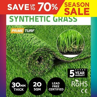 20SQM Synthetic Turf Artificial Grass Plastic Plant Fake Lawn Flooring 30mm