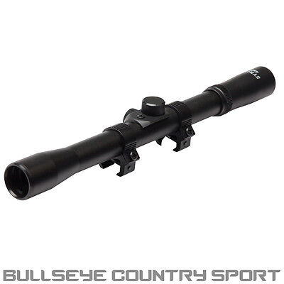 STRIKE SYSTEMS 4X20 RIFLE SCOPE 11mm MOUNTS BLACK 11024 AIRSOFT HUNTING TARGET