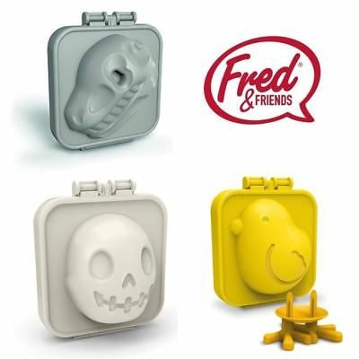 Fred EGG-A-MATIC Boiled Egg Mold in Chick, Dinosaur or Skull Shape