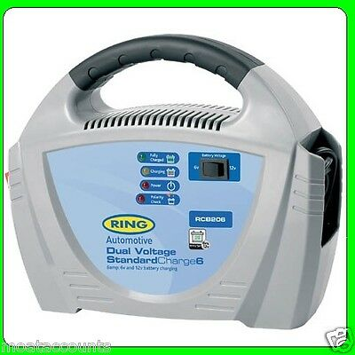 Dual Voltage (6 v & 12 v)   6 Amp Fully Automatic Battery Charger [RCB206]