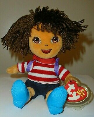 Ty Beanie Baby ~ DORA the EXPLORER (France Version) - MINT with MINT TAGS