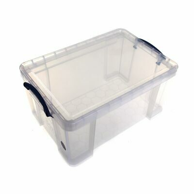 Really Useful Plastic Storage Box 48 Litre Clear