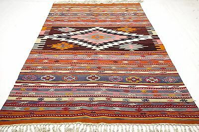 "Anatolia Turkish Antalya Nomads Kilim 77,9"" x 116,1"" Area Rug Kelim Carpet Wool"