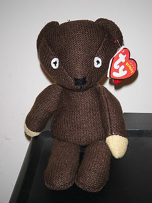 Ty Beanie Baby ~ MR BEAN'S TEDDY BEAR ~ UK Exclusive~ MINT with MINT TAGS ~ NEW