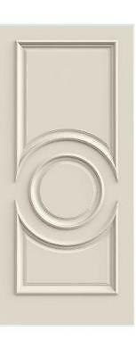 Custom Carved 3 Panel Cntr Oval Primed Solid Core Doors W/ Raised Moulding R3340