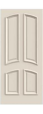 Custom Carved 4 Panel Dbl Arch Primed Solid Core Doors W/ Raised Moulding #C4030