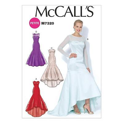 McCALL'S SEWING PATTERN MISSES' WEDDING EVENING DRESSES SIZES 8 - 22 M7320 SALE