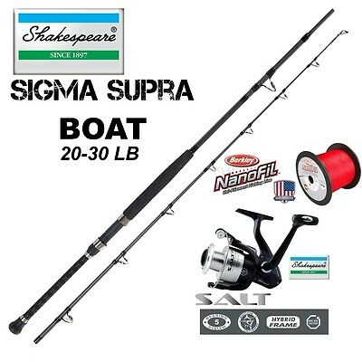 Shakespeare Sigma Supra Boat + SALE XT 60 + 300m Berkley Nanofil Red 20kg